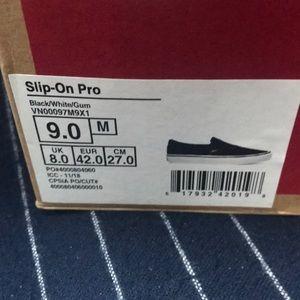Vans Shoes - NIB Vans Slip On Pro Black and White
